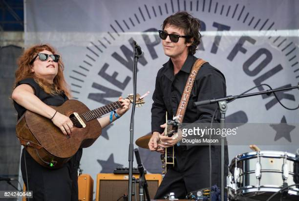 Cary Ann Hearst and Michael Trent of Shovels and Rope perform during the Newport Folk Festival 2017 at Fort Adams State Park on July 28 2017 in...