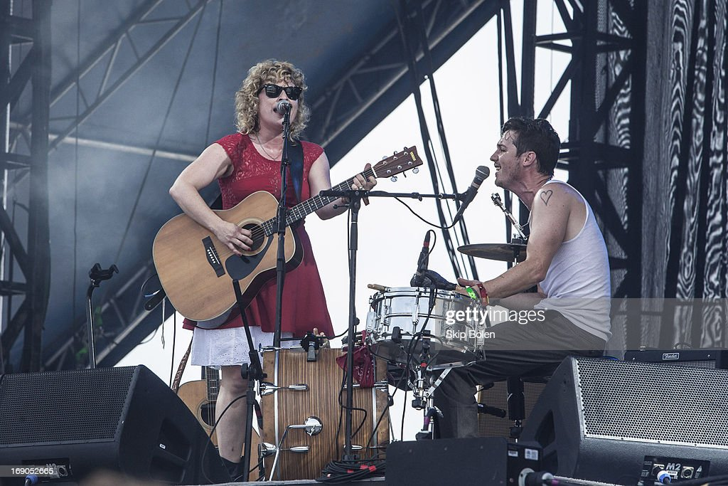 Cary Ann Hearst and Michael Trent of Shovels and Rope performs during the 2013 Hangout Music Festival on May 18, 2013 in Gulf Shores, Alabama.