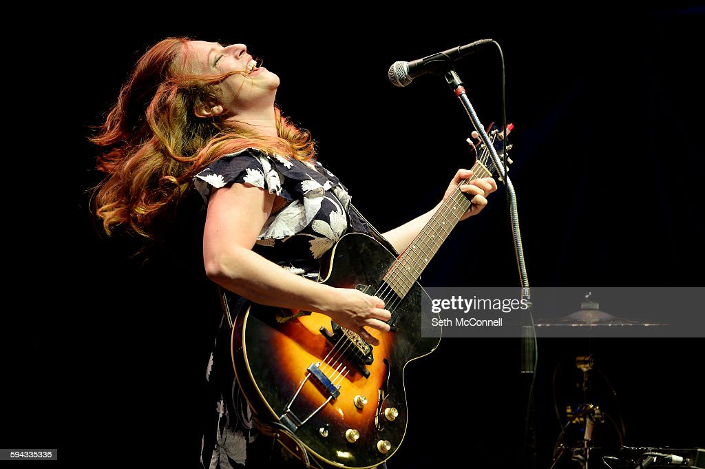 Cary Ann Hearst of Shovels and Rope perform at Red Rocks Amphitheatre in Morrison Colorado on August 21 2016