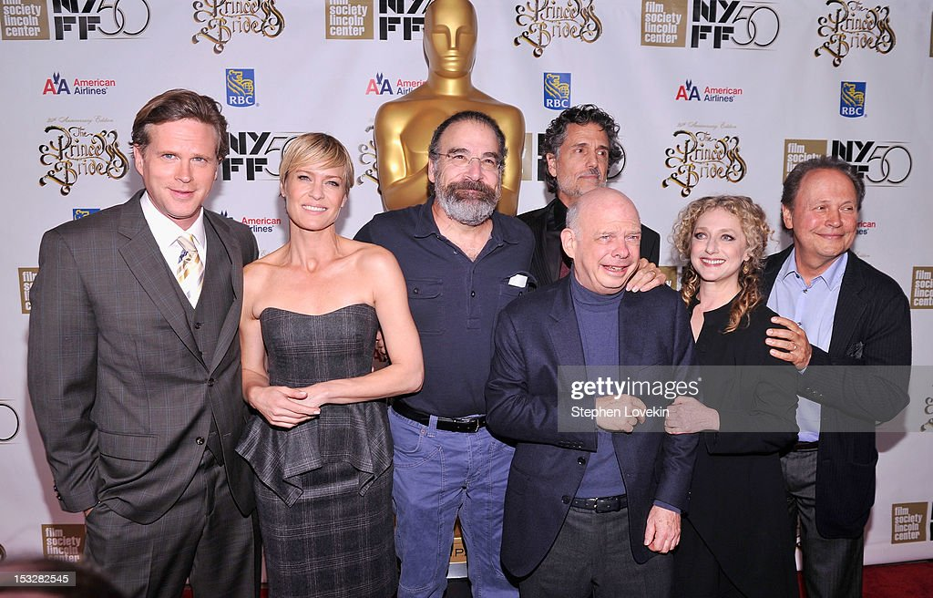 Cary Elwes Robin Wright Rob Reiner Chris Sarandon Wallace Shawn Carol Kane and Billy Crystal attend the 25th anniversary screening cast reunion of...