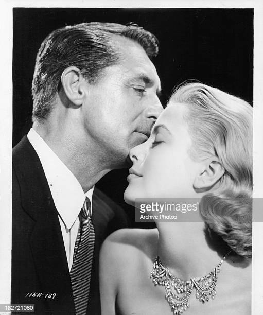 Cary Grant and Grace Kelly publicity portrait for the film 'To Catch A Thief' 1955