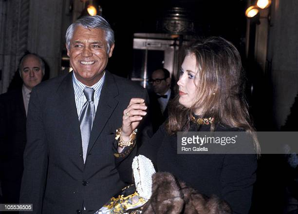 Cary Grant and guest during Cary Grant at the Raffles Club in New York City circa 1969 at Raffles Club in New York City New York United States