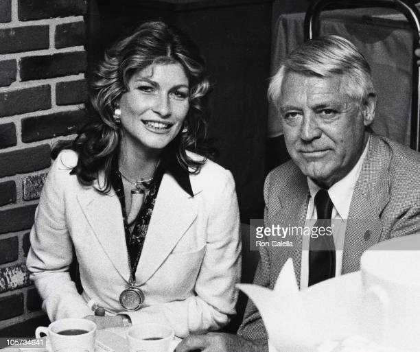 Cary Grant and guest during Straw Hat Awards at Pub Theatrical in New York City New York United States