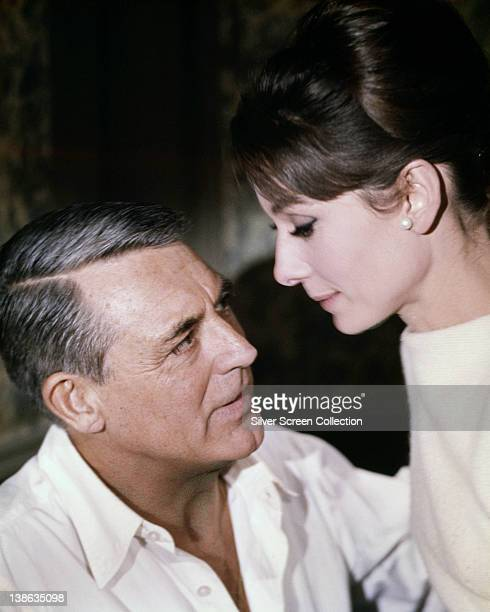 Cary Grant British actor and Audrey Hepburn British actress in a publicity still issued for the film 'Charade' 1963 The film comedy directed by...