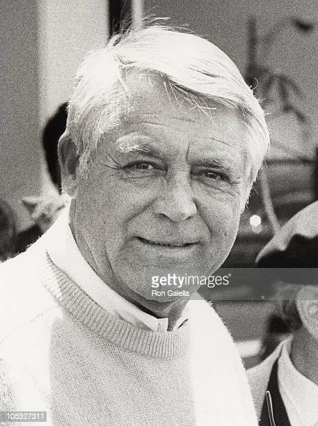 Cary Grant during Arriving in Los Angeles for press conference at Los Angeles International Airport in Los Angeles California United States