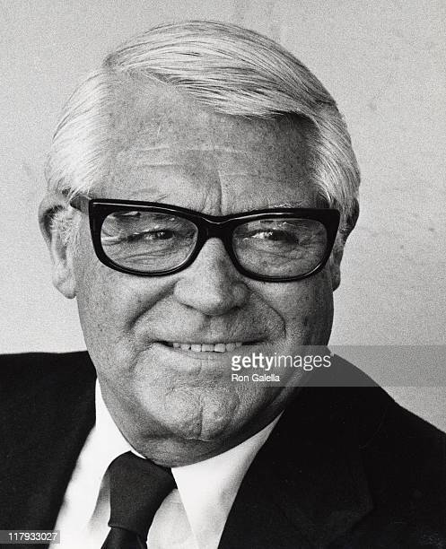 Cary Grant during Cary Grant Attends Opening Day at Dodger Stadium April 5 1979 at Dodger Stadium Dugout in Los Angeles California United States