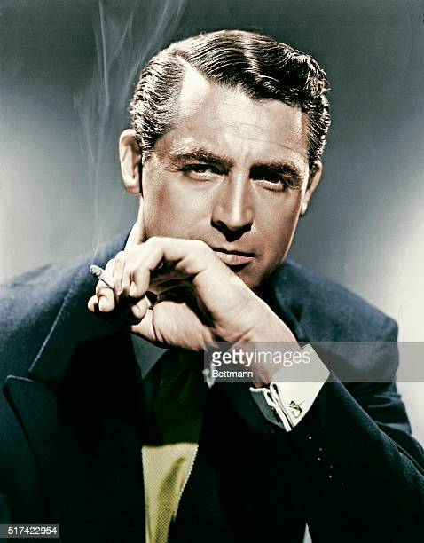 Cary Grant Smoking a Cigarette