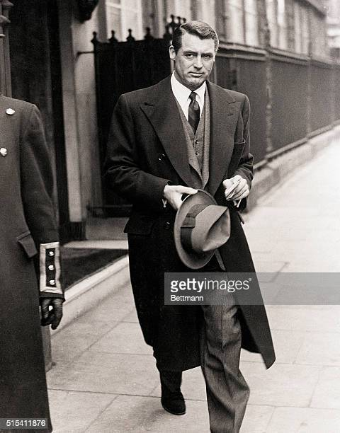 Cary Grant stops in London on his way home to Bristol to visit his mother