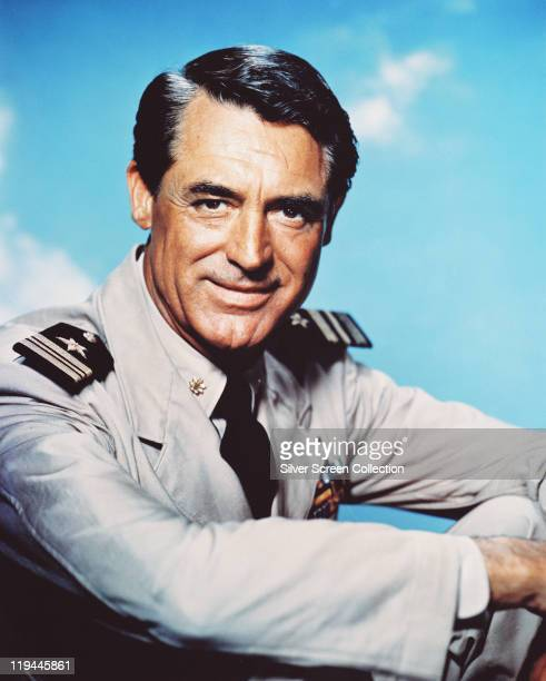 Cary Grant wearing a naval uniform in a publicity portrait issued for the film 'Operation Petticoat' USA 1959 The 1959 comedy directed by Blake...