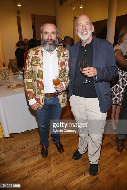 Cary Leibowitz And Harris Schrank Attend IFPDA Foundation Cocktail Benefit At Donald Sultan Studio On June