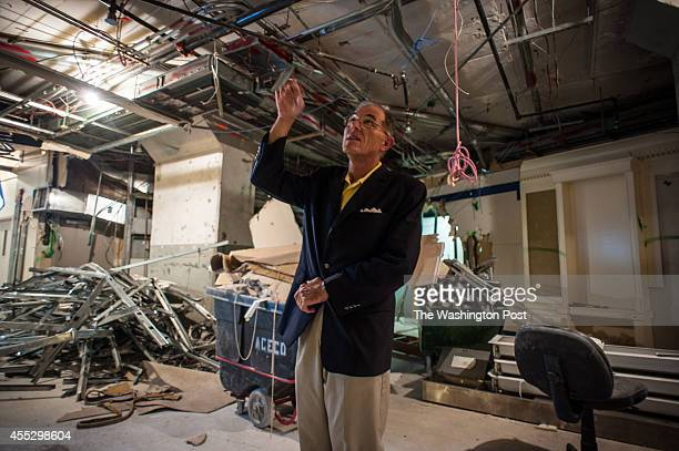Cary Summers points out the demolition that has just begun at the museum Cary L Summers is COO of the Museum of the Bible which will open at a site...