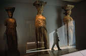 Caryatids statues from Erechteion temple at Parthenon Marbles New Museum, the Acropolis.