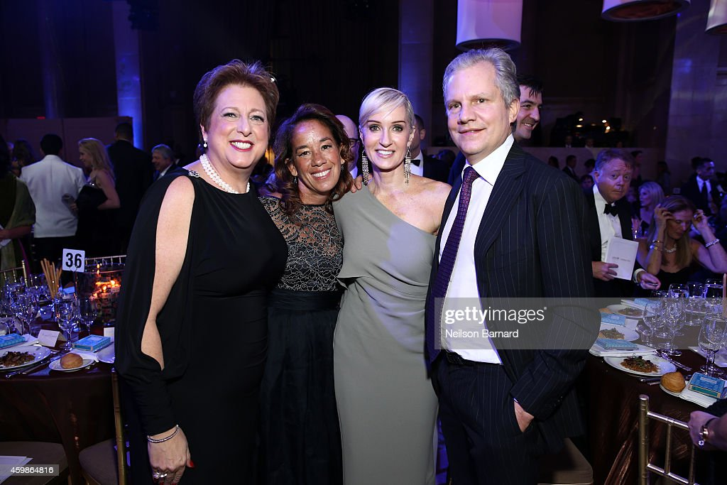 Caryl Stern Gaby Sulzberger Hilary Gumbel and Arthur Sulzberger attend the Tenth Annual UNICEF Snowflake Ball at Cipriani Wall Stree on December 2...