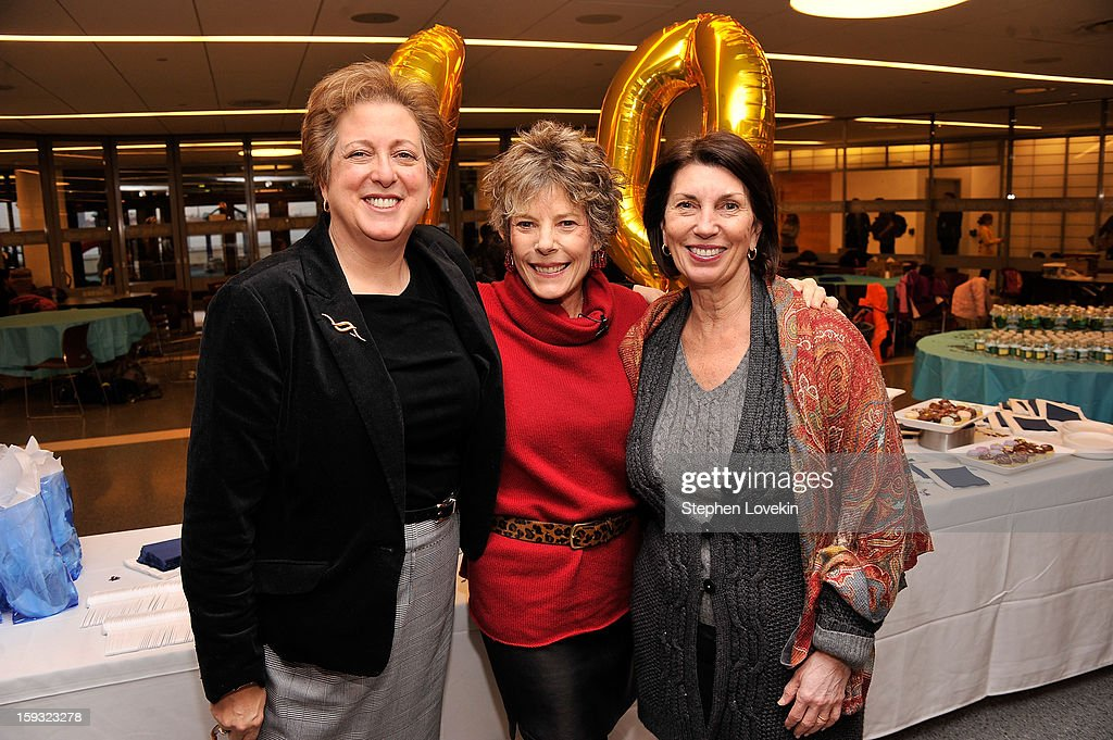 Caryl Stern, President and CEO U.S. Fund for UNICEF, Dena Kaye daughter of Danny Kaye and Pamela Fiori attend Danny Kaye Centennial Birthday Celebration at United Nations International School on January 11, 2013 in New York City.