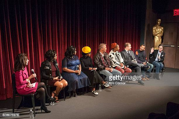 Caryn James Taraji P Henson Octavia Spencer Janelle Monae Kevin Costner Pharrell Williams Ted Melfi Wynn Thomas and Donna Gigliotti attend an...