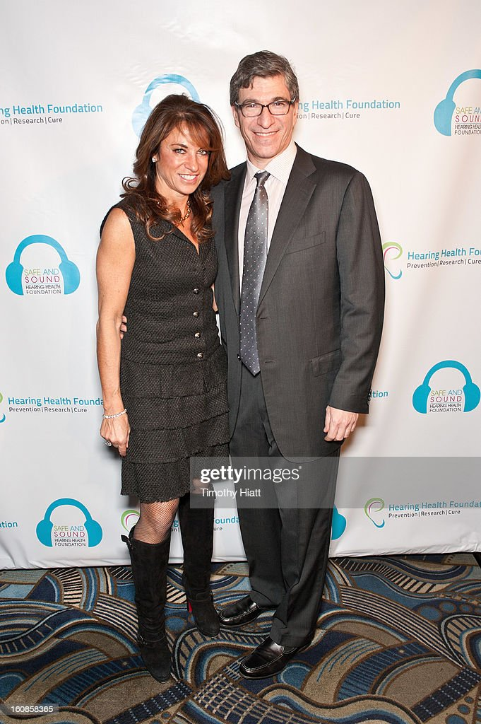 Caryn Kraff and Paul Orlin attend the Hearing Health Foundation's An Intimate Evening with Cyndi Lauper at B.B. King Blues Club & Grill on February 6, 2013 in New York City.