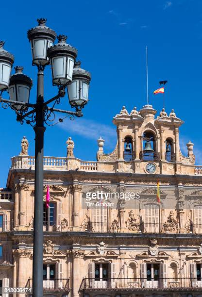 Casa Consistoral town hall in famous Plaza Mayor square Spanish Baroque style architecture Salamanca Spain