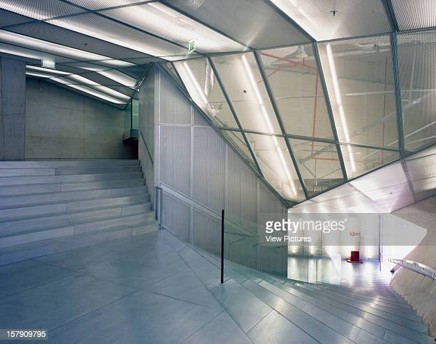 Casa De Musica Porto Portugal Architect Rem Koolhaas Office For Metropolitan Architecture Casa De Musica Interior Shot Showing Staircase And See...