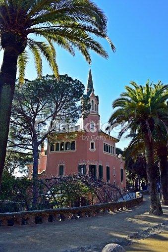 Casa Museo Gaudi.Casa Museo Gaudi Parque Guell Stock Photo Thinkstock