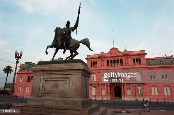Casa Rosada seat of presidency In Buenos Aires Argentina In February 2000
