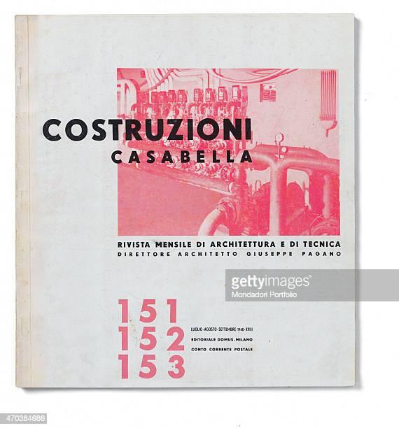 'Casabella No 151 152 153 July August September 1940 18th 20th century Arnoldo Mondadori Editore Editoriale Domus Milan 28 x 31 cm Whole artwork view...