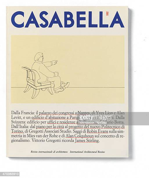 'Casabella No 592 JulyAugust 1992 20th Century Arnoldo Mondadori Editore Milan 28 x 31 cm Whole artwork view On a white background a comic with a man...