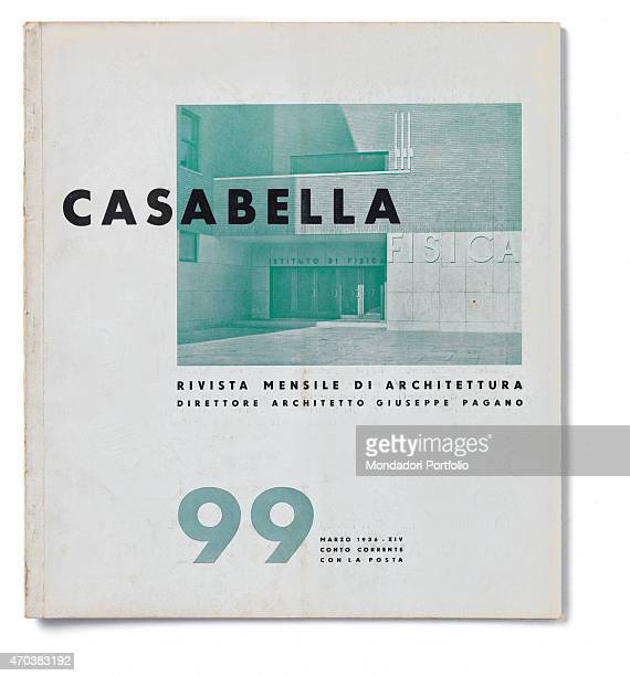 'Casabella No 99 March 1936 XIV 20th Century Arnoldo Mondadori Editore Milan 28 x 31 cm Whole artwork view On a white background in a box the...