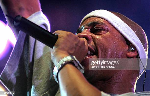 French rapper Joey Starr performs 22 July 2007 during the Casa Music festival in the capital Casablanca Despite Islamic opposition to music festivals...