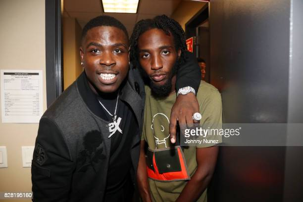 Casanova and CJ Fly backstage at Barclays Center on August 8 2017 in New York City