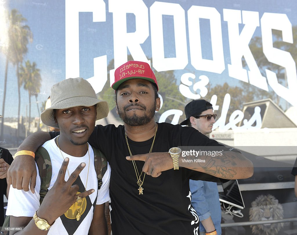 Casanova and Skeme attend Welcome To The Block presented by Crooks & Castles and Diamond Supply Co on September 29, 2013 in Los Angeles, California.