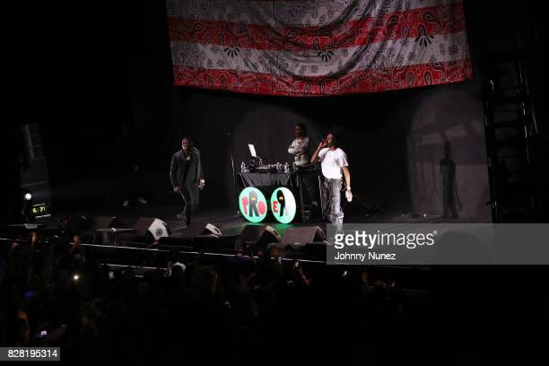 Casanova Powers Pleasant and Joey Bada$$ perform at Barclays Center on August 8 2017 in New York City