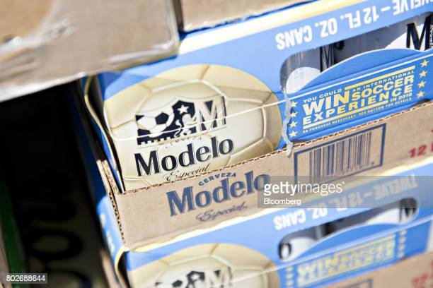 A case of Constellation Brands Inc Modelo beer sits in a truck during a delivery in Ottawa Illinois US on Tuesday June 27 2017 Constellation Brands...