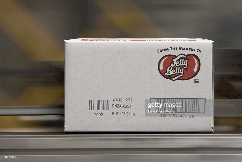 A case of jelly beans moves down the assembly line at the Jelly Belly Factory April 2, 2007 in Fairfield, California. The Jelly Belly Factory produces approximately 14 billion jelly beans a year. With less than a week before Easter Sunday, retailers stock their shelves full of jelly beans, chocolates, and other traditional candies for Easter.