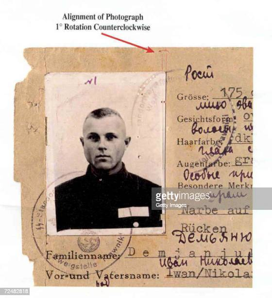 A case photo from the US Department of Justice shows John Demjanjuk whose US citizenship was revoked February 21 2002 by a US District Court judge...