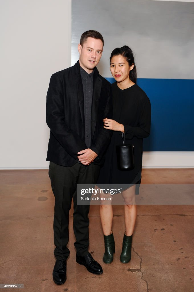 Case Simmons and Kimberly Yu attend Joe Goode 'Flat Screen Nature' on July 12, 2014 in Los Angeles, California.