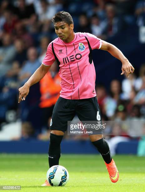 Casemiro of FC Porto in action during the Pre Season Friendly match between West Bromwich Albion and FC Porto at The Hawthorns on August 9 2014 in...