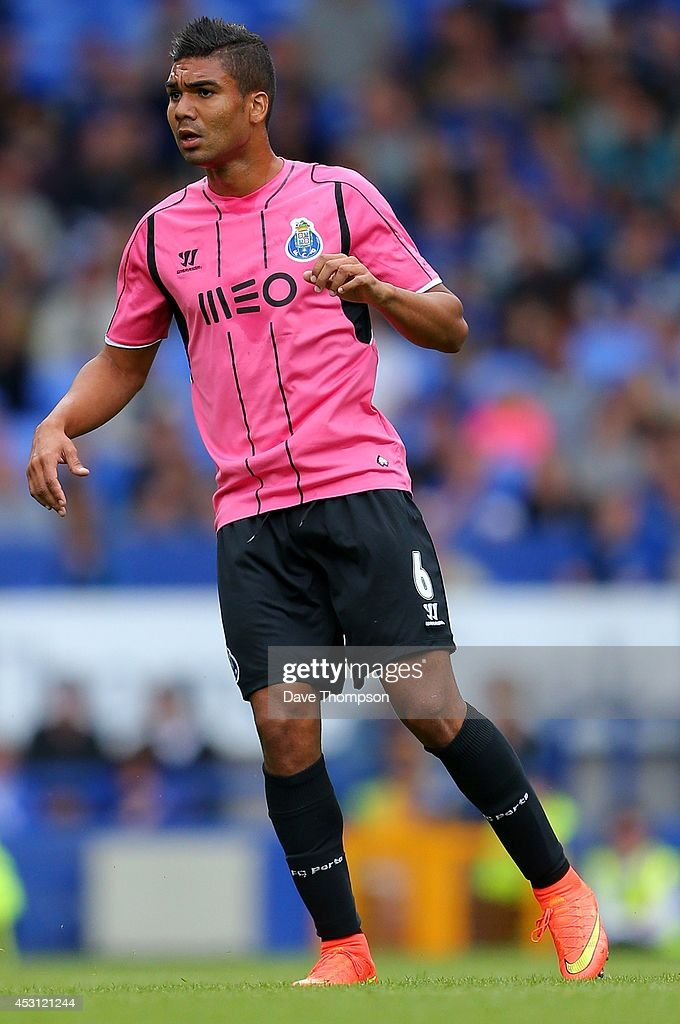 <a gi-track='captionPersonalityLinkClicked' href=/galleries/search?phrase=Casemiro&family=editorial&specificpeople=7150894 ng-click='$event.stopPropagation()'>Casemiro</a> of Porto during the Pre-Season Friendly between Everton and Porto at Goodison Park on August 3, 2014 in Liverpool, England.