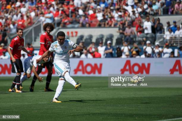 Casemiro of Real Madrid scores a goal to make it 11 during the International Champions Cup 2017 match between Real Madrid v Manchester United at...
