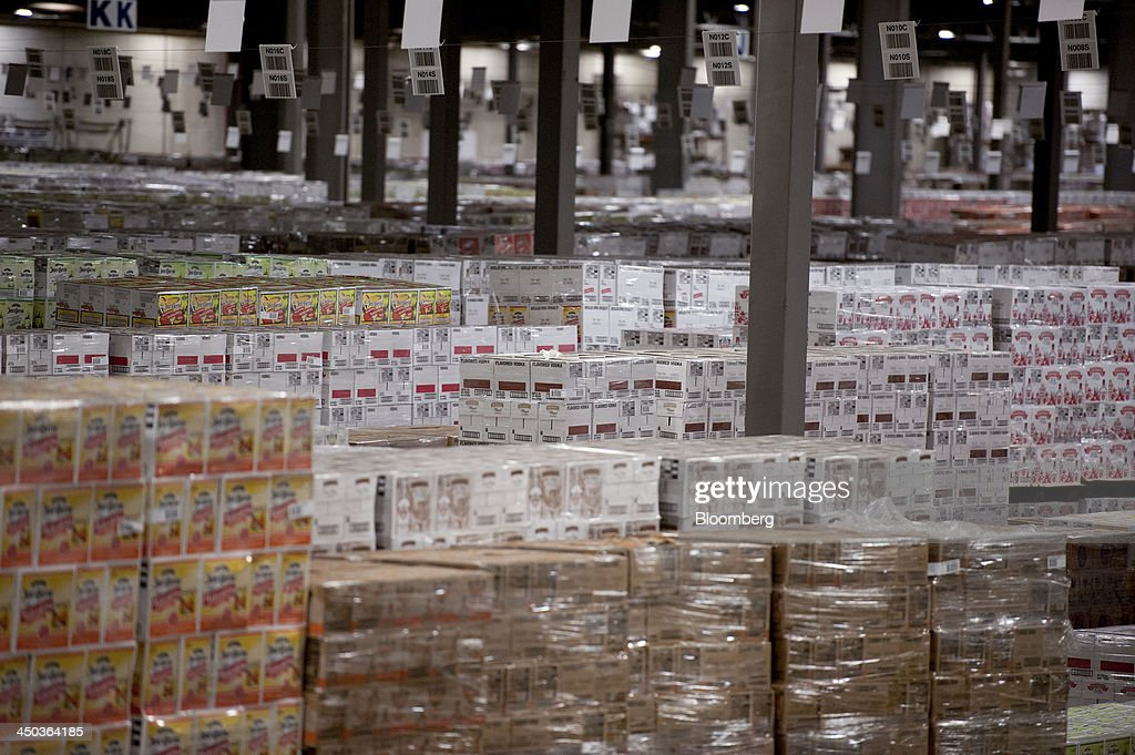 Cases of diageo plc products sit in a distribution for Census bureau title 13
