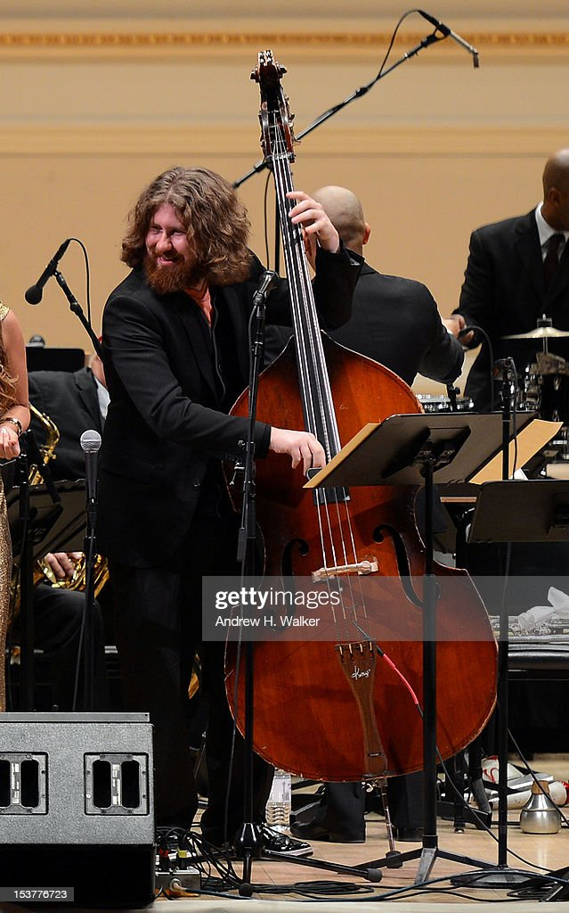 <a gi-track='captionPersonalityLinkClicked' href=/galleries/search?phrase=Casey+Abrams&family=editorial&specificpeople=7534720 ng-click='$event.stopPropagation()'>Casey Abrams</a> and The New Orleans Jazz Orchestra perform at Carnegie Hall on October 8, 2012 in New York, New York.