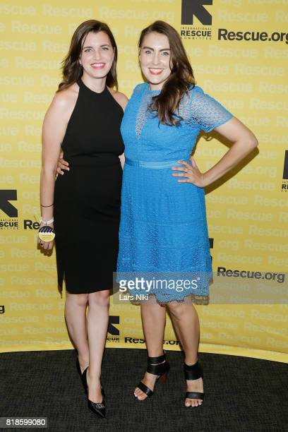 Casey Adams and Actor Lauren Adams attend the Seventh Annual GenR Summer Party at the Tribeca Rooftop on July 18 2017 in New York City