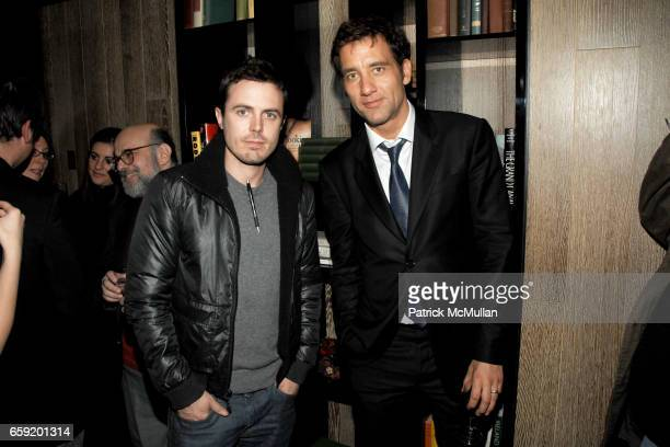 Casey Affleck and Clive Owen attend THE CINEMA SOCIETY and SALVATORE FERRAGAMO host the after party for 'TWO LOVERS' at Cooper Square Hotel on...