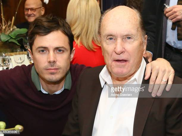 Casey Affleck and Robert Duvall attend a luncheon celebrating the release of 'Out Of The Furnace' at Explorers Club on November 20 2013 in New York...