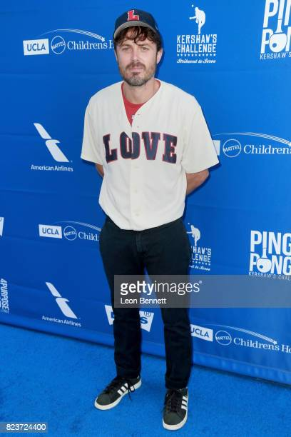 Casey Affleck at Clayton Kershaw's 5th Annual Ping Pong 4 Purpose Celebrity Tournament at Dodger Stadium on July 27 2017 in Los Angeles California