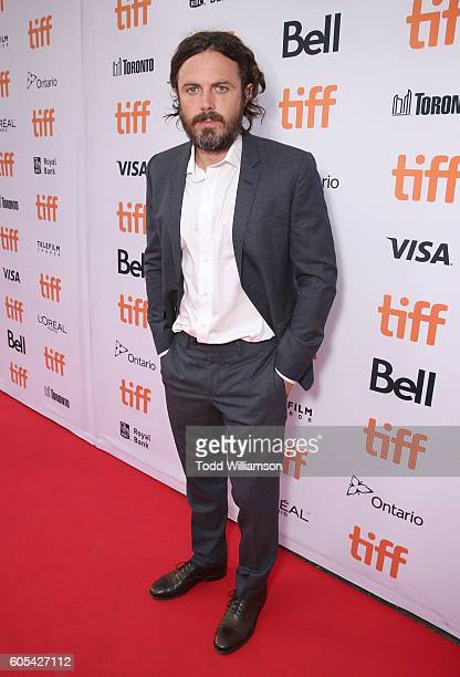 Casey Affleck attends Amazon Studios' 'Manchester By The Sea' Toronto International Film Festival Premiere at Princess of Wales Theatre on September...