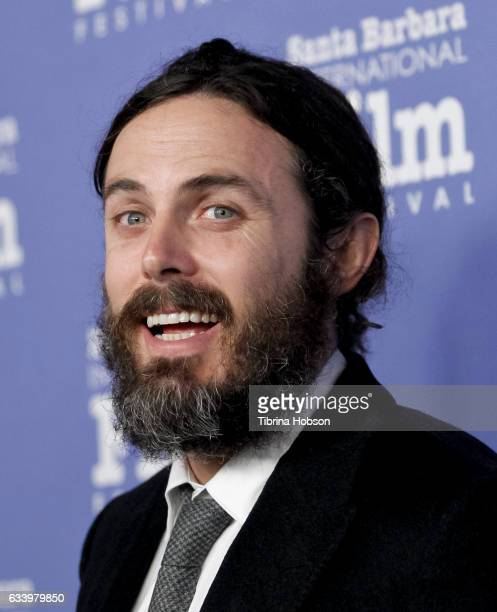 Casey Affleck attends the 32nd Santa Barbara International Film Festival Cinema Vanguard Tribute at Arlington Theater on February 5 2017 in Santa...