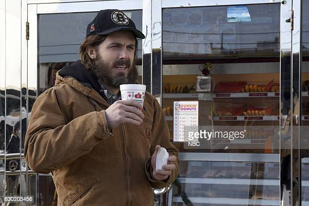 LIVE 'Casey Affleck' Episode 1714 Pictured Casey Affleck as Donny during the 'Dunkin' Donuts' sketch on December 17 2016