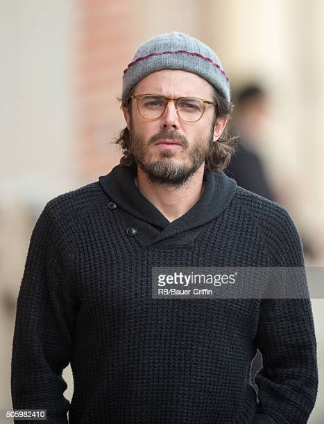 Casey Affleck is seen at 'Jimmy Kimmel Live' on January 20 2016 in Los Angeles California