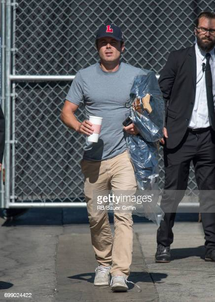 Casey Affleck is seen at 'Jimmy Kimmel Live' on June 20 2017 in Los Angeles California