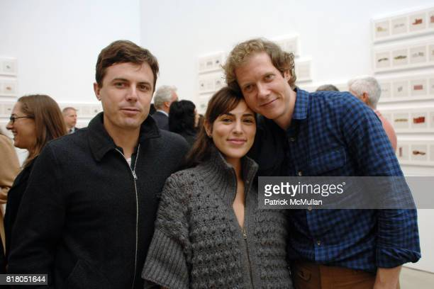 Casey Affleck Summer Phoenix and Jake Paltrow attend Taryn Simon CONTRABAND at Gagosian Gallery at Gagosian Gallery on September 22 2010 in Beverly...